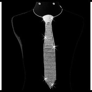 Diamond Studded Tie Choker